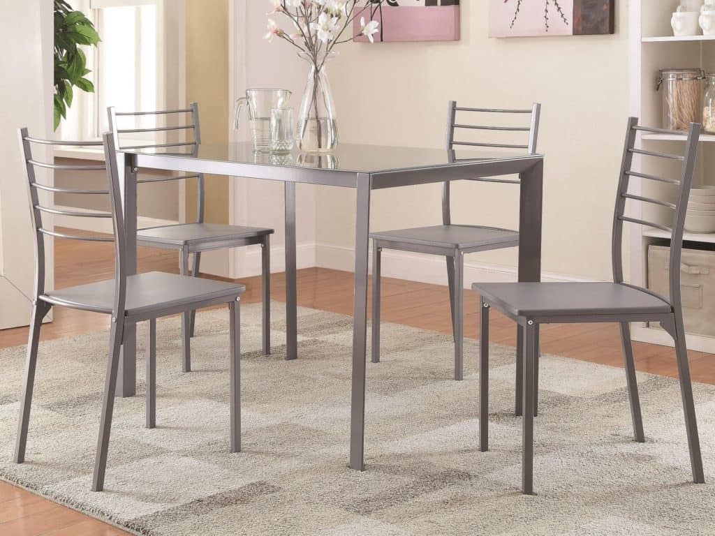 metal dining room set