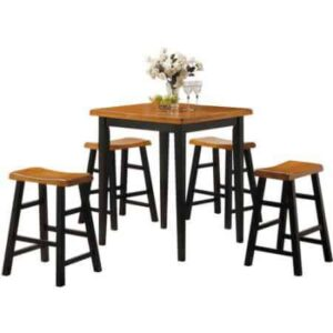 kitchen dinette with bar stools