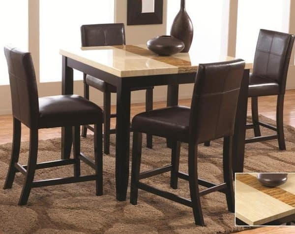 leather chair dining room set