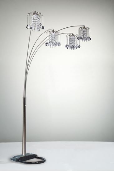 crystal rain drop floor lamp