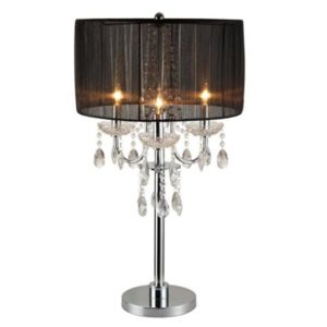 crystal accent table lamp