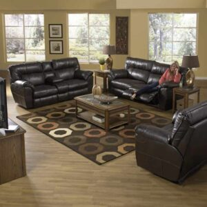 Nolan Leather Reclining Sofa Set