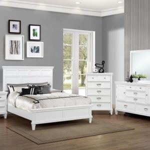white bedroom suite