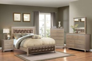 hollywood champagne bedroom set