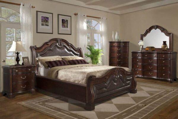 tobasco sleigh bedroom set