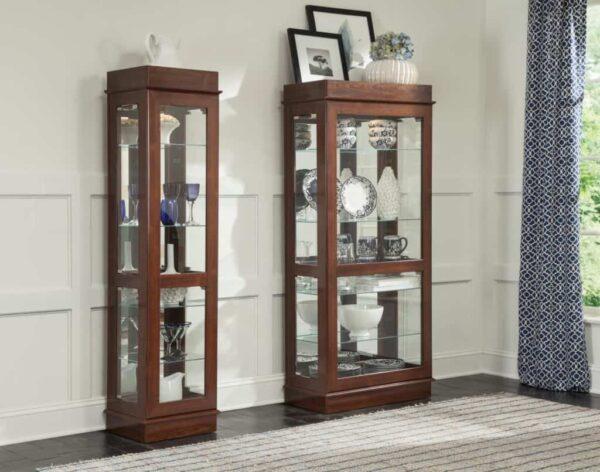 cherry curio cabinets