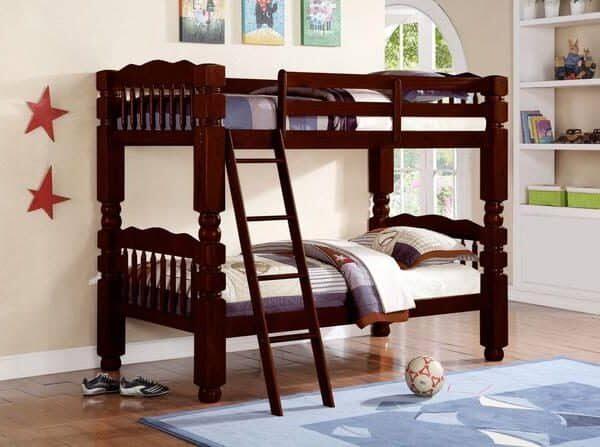Espresso Wood Twin / Twin Bunk Bed