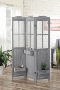 Vintage Grey Folding Screen