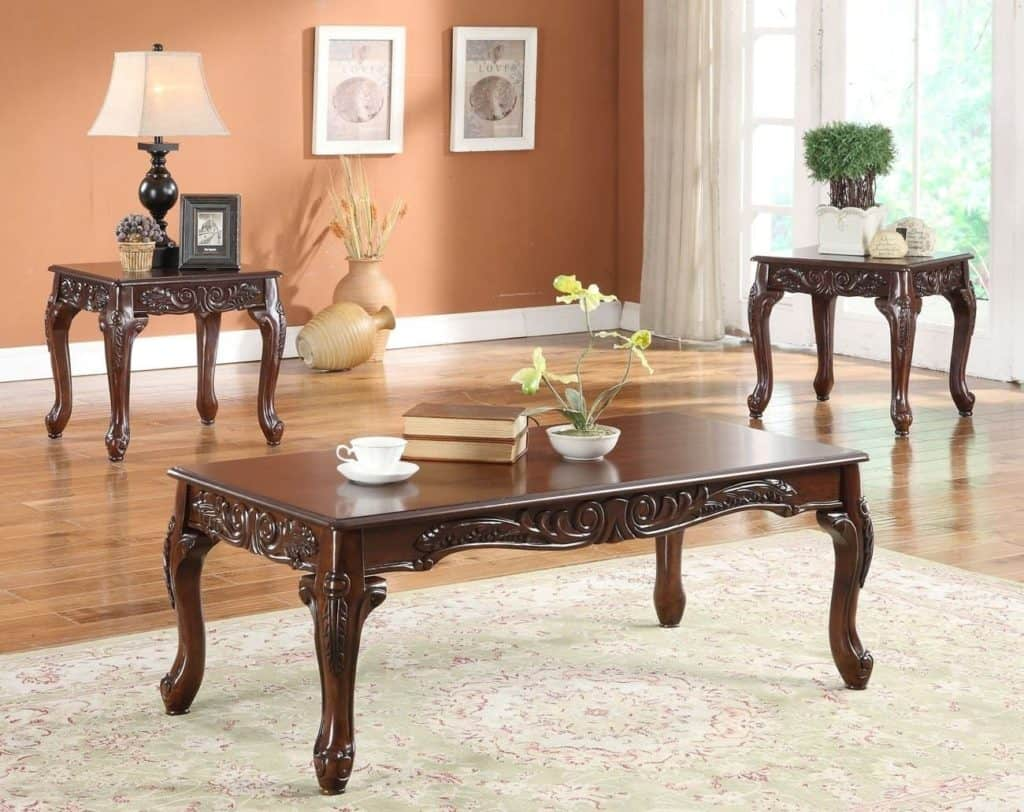 Cherry Coffee Table Set | Davis Appliance and Furniture