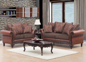 Tinga Caramel Sofa Set