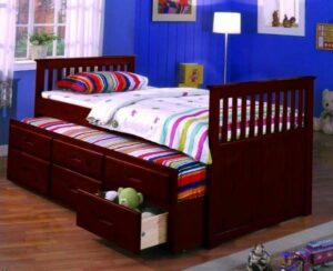 Twin Captain Bed w/Trundle & Drawers