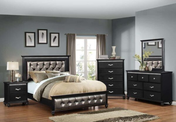 Hollywood Bedroom Set In Ebony