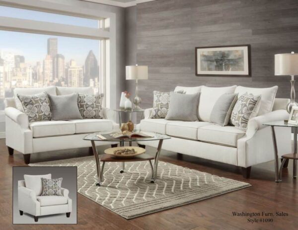 Bay Ridge Cream Sofa Set