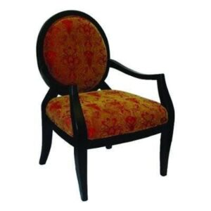 Red and Gold Accent Chair