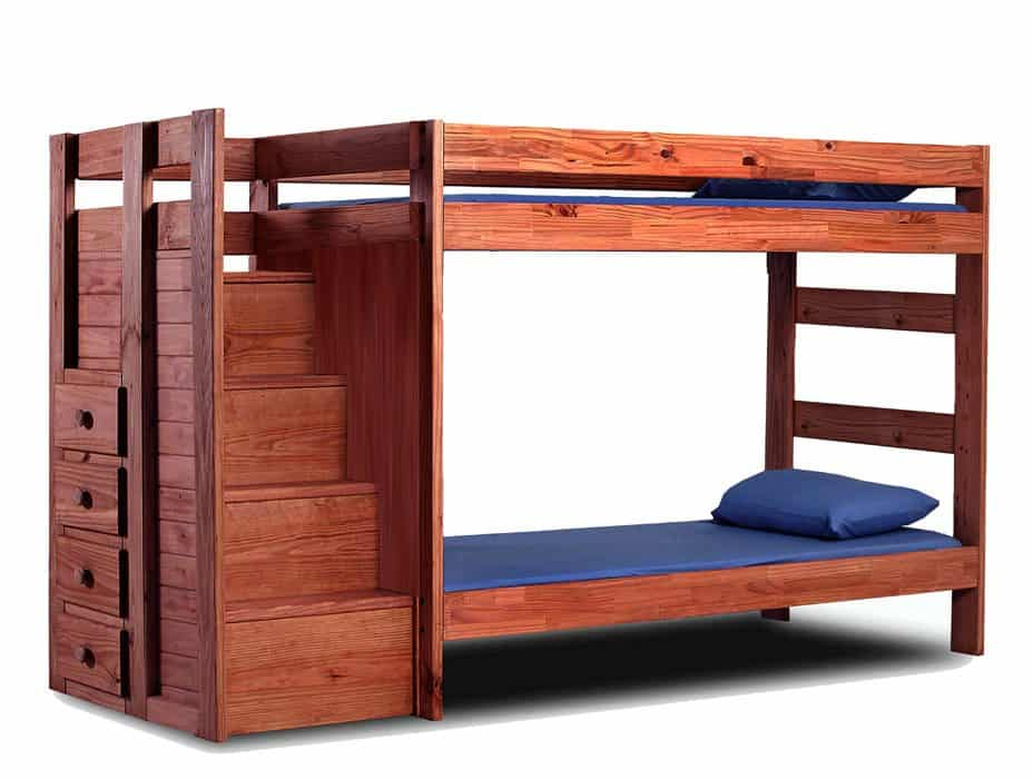 Twin/Twin Bunk Bed W/Staircase Drawers