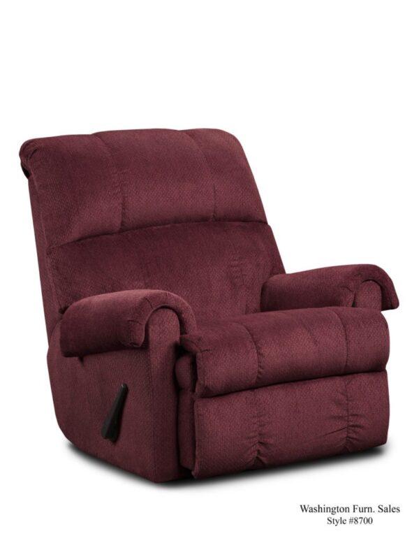 Washington Furniture 8700 Recliner burgundy