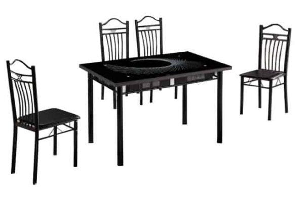 Master Furniture 1700 Dining Set black