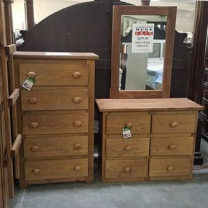 Pinecrafter Dresser and 5 Drawer Chest