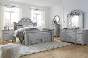 Zolena Bedroom Set Queen Silver Boho Glamour by Ashley
