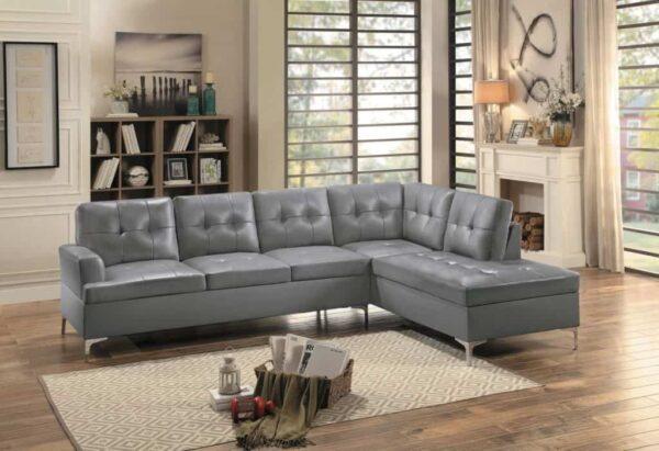 barrington sectional lshaped, mid century modern gray