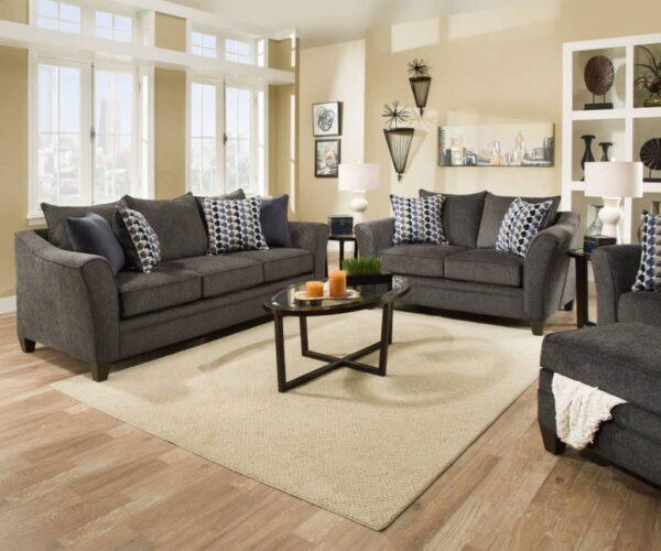 albany sofa set slate transitional