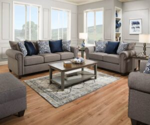 emma slate sofa set transitional