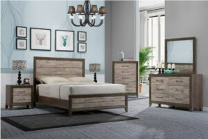 crown mark jaren bedroom set rustic queen