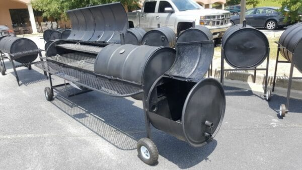 triple barrel grill with smoker