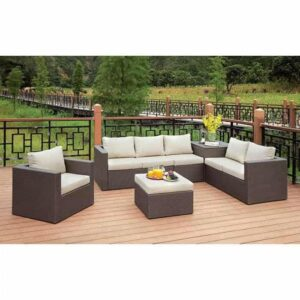 Davina patio sectional and ottoman