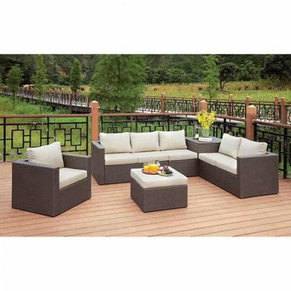 Davina patio sectional and ottoman