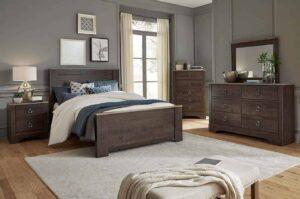 rivervale bedroom set VINTAGE dark panel