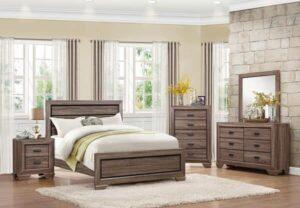 farrow panel bedroom set modern wood