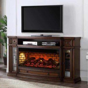 Klamath Electric Media Fireplace cherry wood