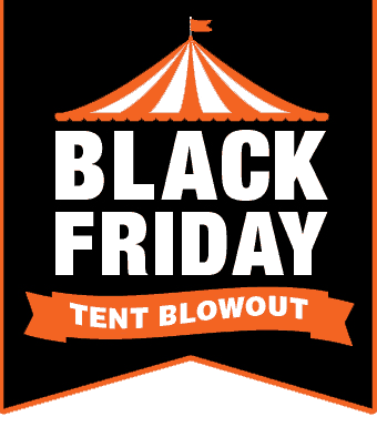black friday tent sale blowout