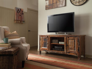 tv console reclaimed wood rustic