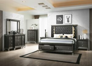 margaret bedroom collection glamorous, upholstered