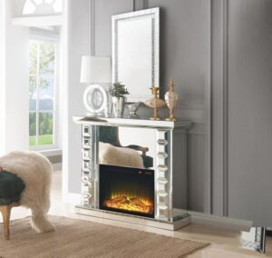 Dominic electric fireplace glamorous, glam, bling